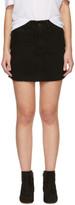 Frame Black Denim le Mini Frayed Edges Miniskirt