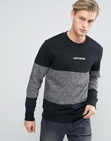 Converse Sweat In Block Print In Grey 10003401-A01