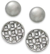 Charter Club Silver-Tone 2-Pc. Stud Earrings Set, Created for Macy's