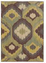 Tommy Bahama Cabana Collection Ikat Brown 9-Foot 10-Inch x 12-Foot 10-Inch Rug