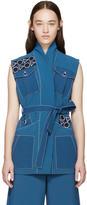 Peter Pilotto Blue Embroidered Safari Vest