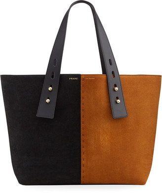 Frame Les Second Medium Two-Tone Suede Tote Bag