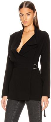 Proenza Schouler Long Sleeve Wrap Top in Black | FWRD