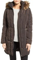 Calvin Klein Down & Feather Fill Coat with Faux Fur Trim Hood (Regular & Petite)