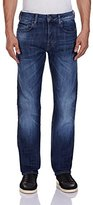 G Star Men's Attacc Straight Fit Jean In Blue Delm Stretch Denim