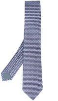 Bulgari cat print neck tie