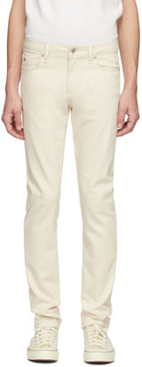 Naked and Famous Denim Off-White Natural Seed Super Guy Jeans