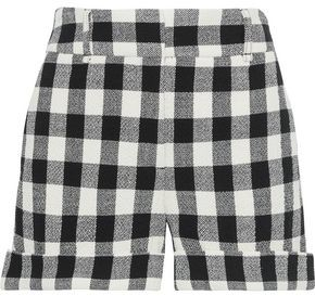 Veronica Beard Carito Checked Cotton-blend Tweed Shorts