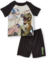 Komar Kids 4-D Dinosaur Sleep Tee & Shorts - Toddler & Boys