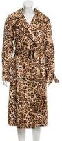 Michael Kors Leopard Print Trench Coat