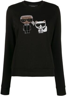 Karl Lagerfeld Paris Ikonik crystal sweatshirt