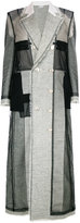 Thom Browne long patchwork coat