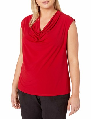 Kasper Women's Plus Size Matte Jersey Sleeveless Cami
