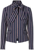 Banana Republic Stripe Bow-Neck Jacket