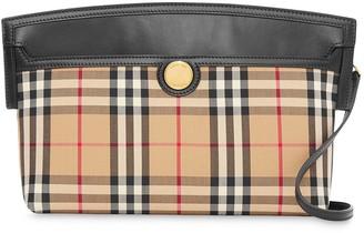 Burberry Society Vintage-check clutch bag