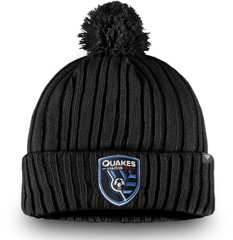 Men's Fanatics Branded Black San Jose Earthquakes Cuffed Knit With Pom Beanie