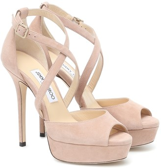 Jimmy Choo Jenique 125 suede platform sandals