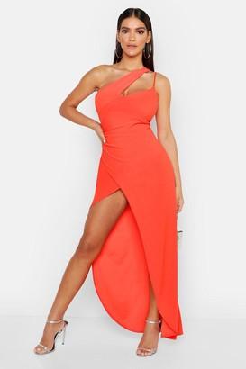boohoo One Shoulder Maxi Dress