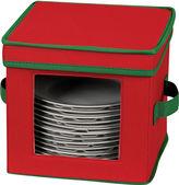 Household Essentials Red Holiday Dessert Plate/Bowl Storage Chest