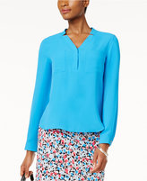 Nine West V-Neck Swing Blouse