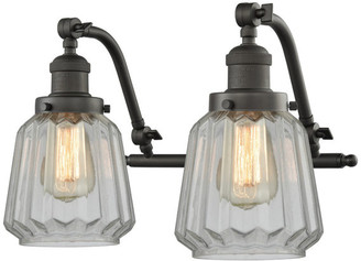 Innovations Lighting Chatham 2-Light Bath Fixture, Clear Glass, Oil Rubbed Bronze, LED