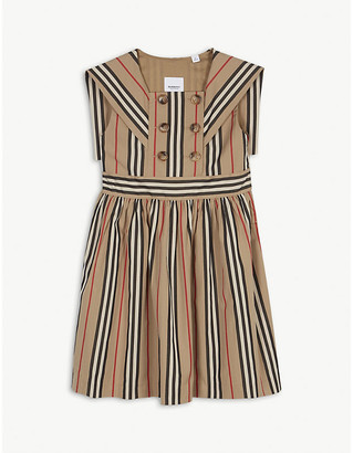 Burberry Orlie icon striped cotton dress 3-14 years