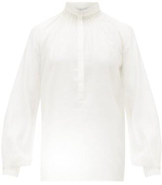 Gabriela Hearst Dietrich Pintuck-pleat Silk-blend Blouse - Womens - Ivory