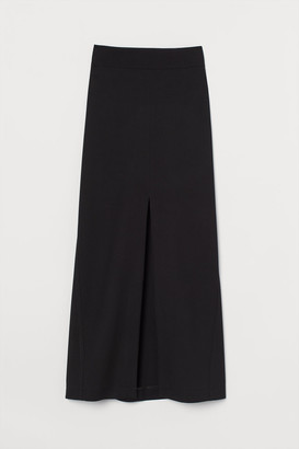 H&M Wool-blend Skirt - Black