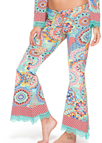 Luli Fama Mariposita Caribeña Boho Pant In Multi-Color (L480852)