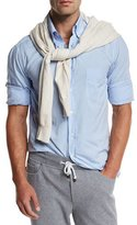 Brunello Cucinelli Super-Soft Sport Shirt, Light Blue