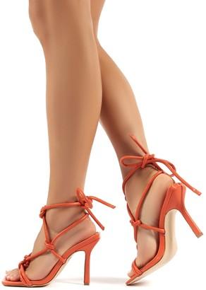 Public Desire Luna Strappy Knotted Stiletto High Heels
