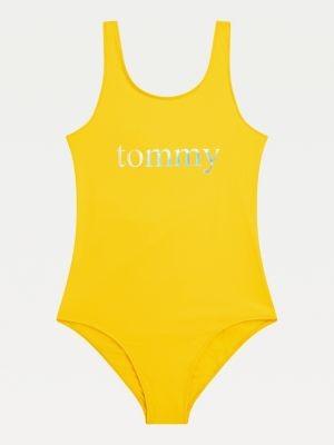 Tommy Hilfiger Metallic Logo Scoop Neck Swimsuit