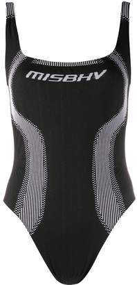 Misbhv Logo-Print Knitted-Style Bodysuit