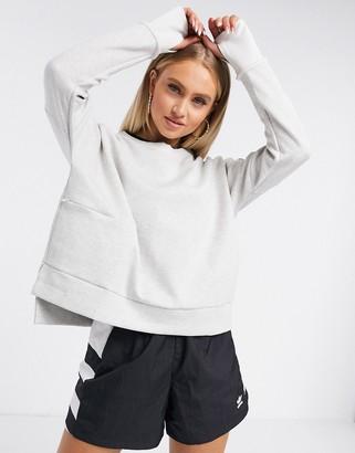 adidas Versatility sweatshirt in grey