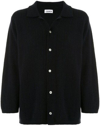 Coohem Ribbed-Knit Shirt Cardigan