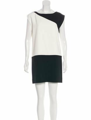 Saint Laurent Crew Neck Mini Dress Black