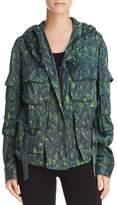 Donna Karan Hooded Multi-Pocket Lightweight Jacket