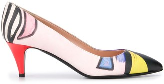 Moschino Painted 55mm Pumps