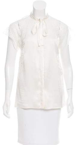 Dolce & Gabbana Short Sleeve Lace Blouse