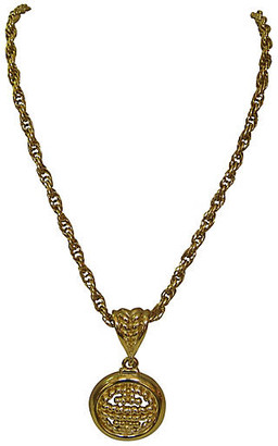 One Kings Lane Vintage Givenchy Gold Enhancer Necklace - Wisteria Antiques Etc