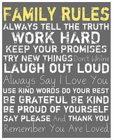 PTM Images Gray Family Rules Wall Art