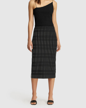 FRIEND of AUDREY - Women's Black Pencil skirts - Alderidge Print Crepe Knit Skirt - Size One Size, XS at The Iconic