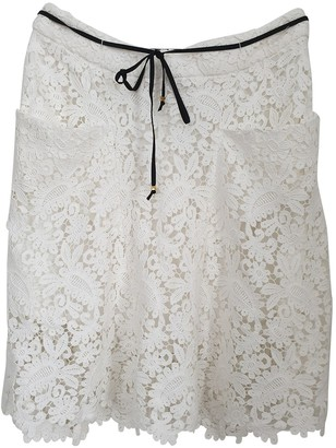 Maje White Cotton Skirt for Women
