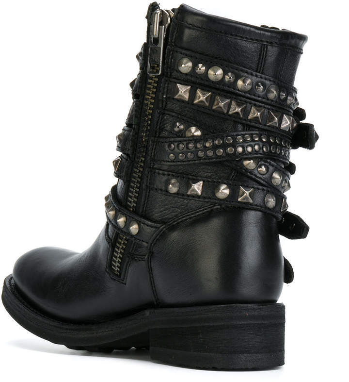 Ash buckled boots