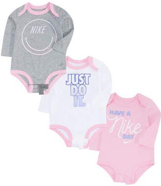 Nike Girls 3-pc. Bodysuit-Baby