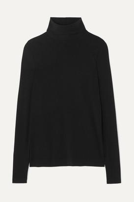 Wolford Net Sustain Aurora Modal-blend Jersey Turtleneck Top - Black