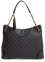 Tory Burch 'Fleming' Leather Shoulder Bag - Black