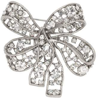 Kenneth Jay Lane Antique Silver Bow Pin
