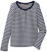 Joe Fresh Gathered Striped Top (Little Girls & Big Girls)