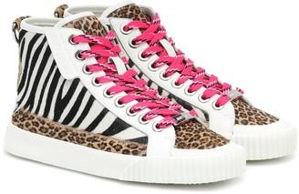 Jimmy Choo Impala Hi/F animal-print sneakers